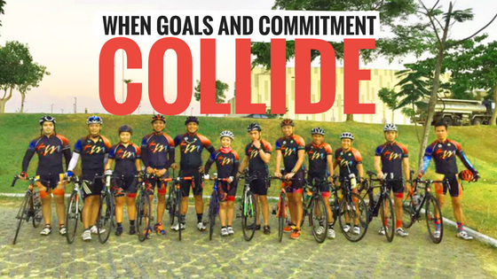 When goals and commitment collide