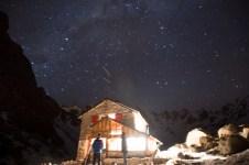 The Refugio lit up.