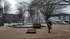 The public square near the mall in Osorno.