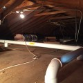Radon Fan In Garage Attic