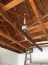 Radon Fan in Garage Attic with ON - Off switch