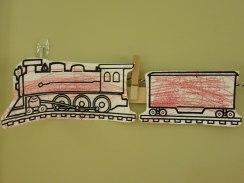 Choo-choo train - mixed media.