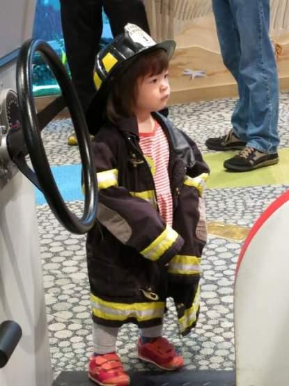 Lana the firewoman!