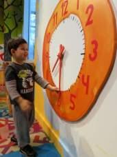 Miles likes the clock!