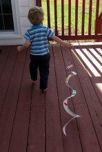 "Pulling around my ""snake."""