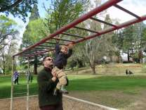 And Uncle Michael helped me with the monkey bars.