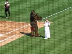 Princess Leia and Chewbacca made an appearance.