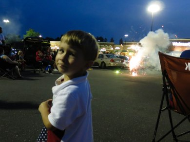 and watching fireworks,