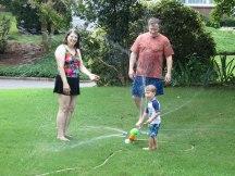 Nana and Papa got me this awesome sprinkler.