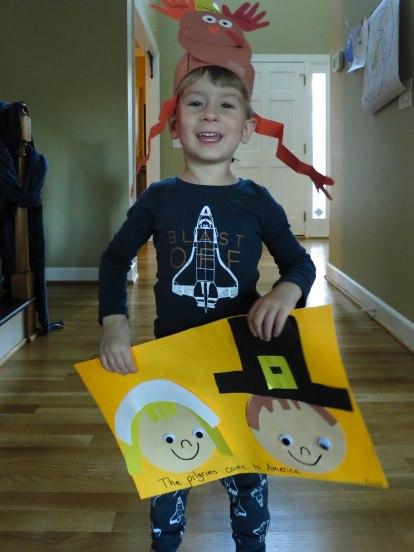 Turkey hat & Pilgrims (preschool)