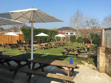 The Railway pub, ringwood beer garden
