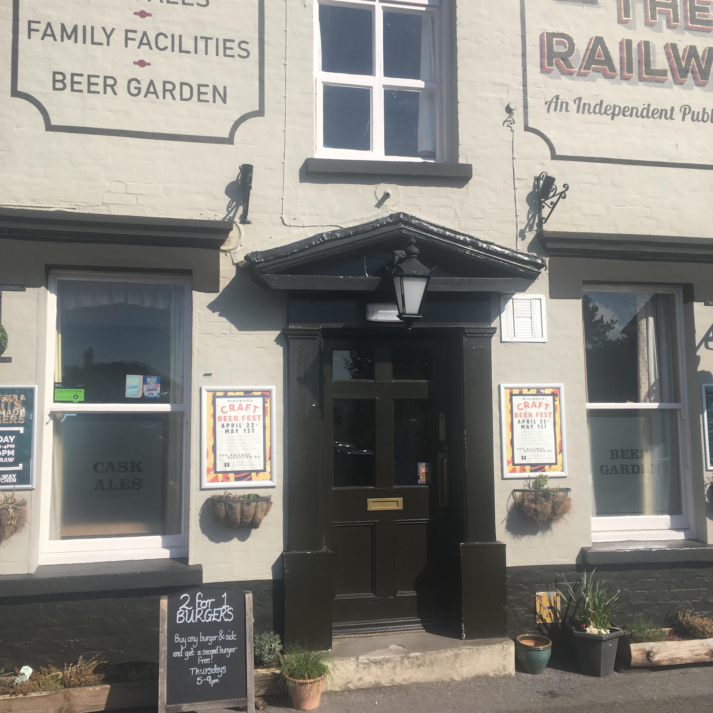 Railway Craft Beer pub and kitchen unspoilt new forest gem