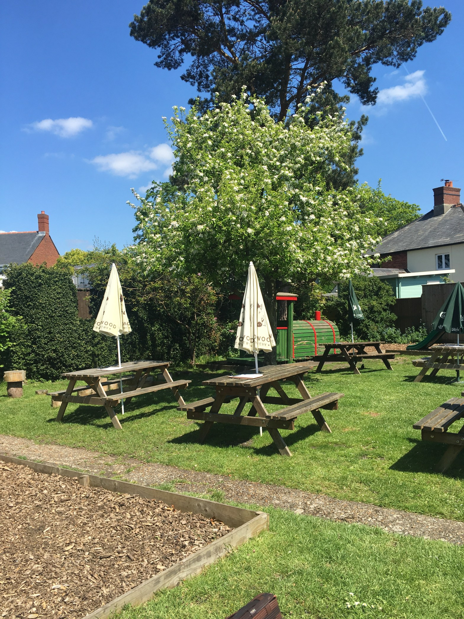 Our large beer garden - for a pub in the new forest