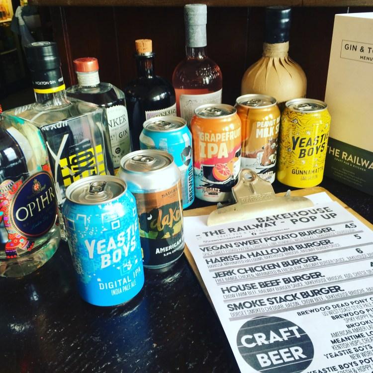 Craft beer Gin and burgers at bakehouse pop up carnival bar ringwood