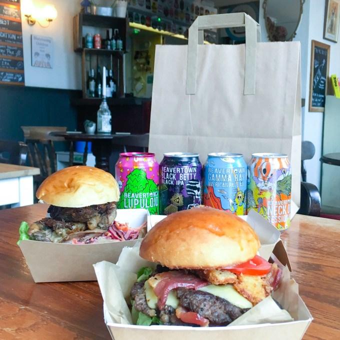 Craft beer bar and take away burgers