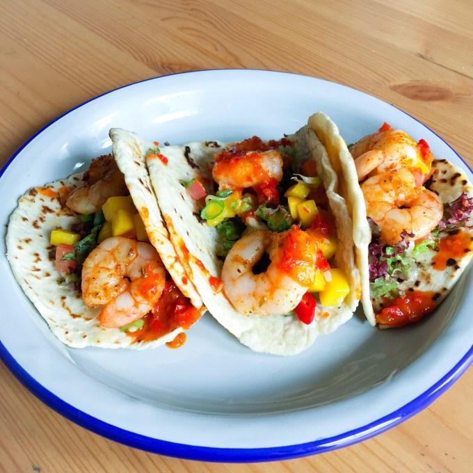Prawn Tacos Handmade The Railway Pub and Kitchen