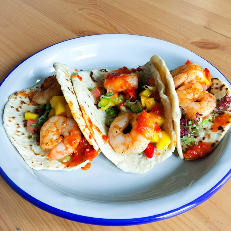Prawn Tacos Handmade The Railway Pub and Kitchen