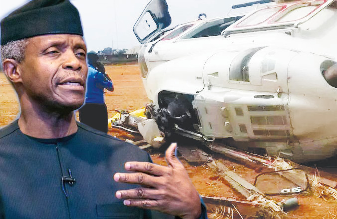 Image result for Osinbajo reveals who would have been held responsible if he died in helicopter crash