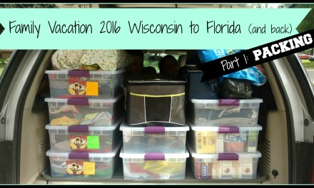 Family Vacation 2016 – Wisconsin to Florida (and back) PACKING