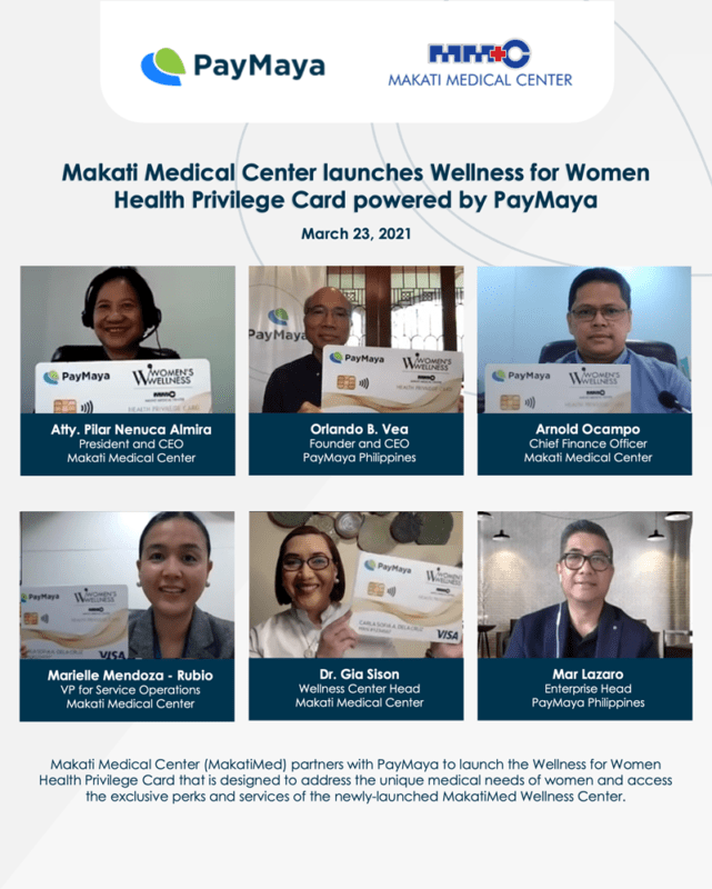MakatiMed And PayMaya Launch Wellness For Women Health Privilege Card