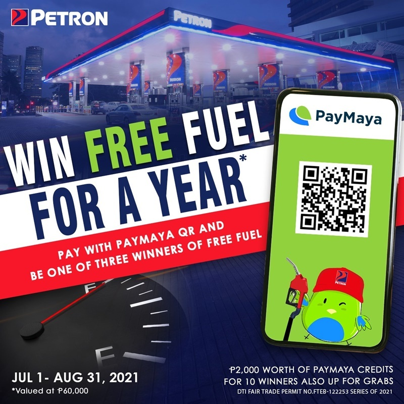 Petron, PayMaya Promote Cashless Transactions With 1-Year Free Fuel Giveaway