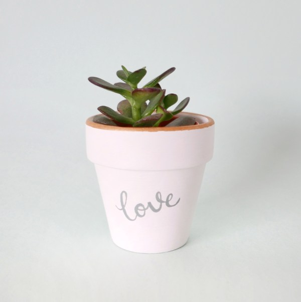 Hand Painted 'Love' Pot by The Rain in Spain