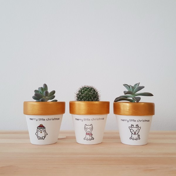 Merry Little Christmas Pots