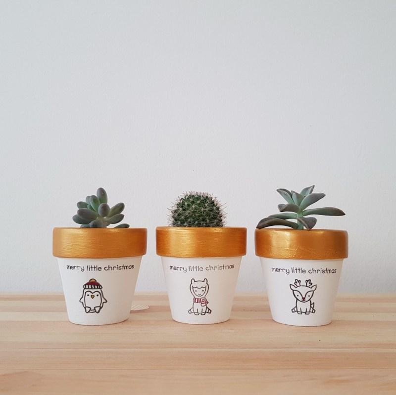 Merry Little Christmas Pots