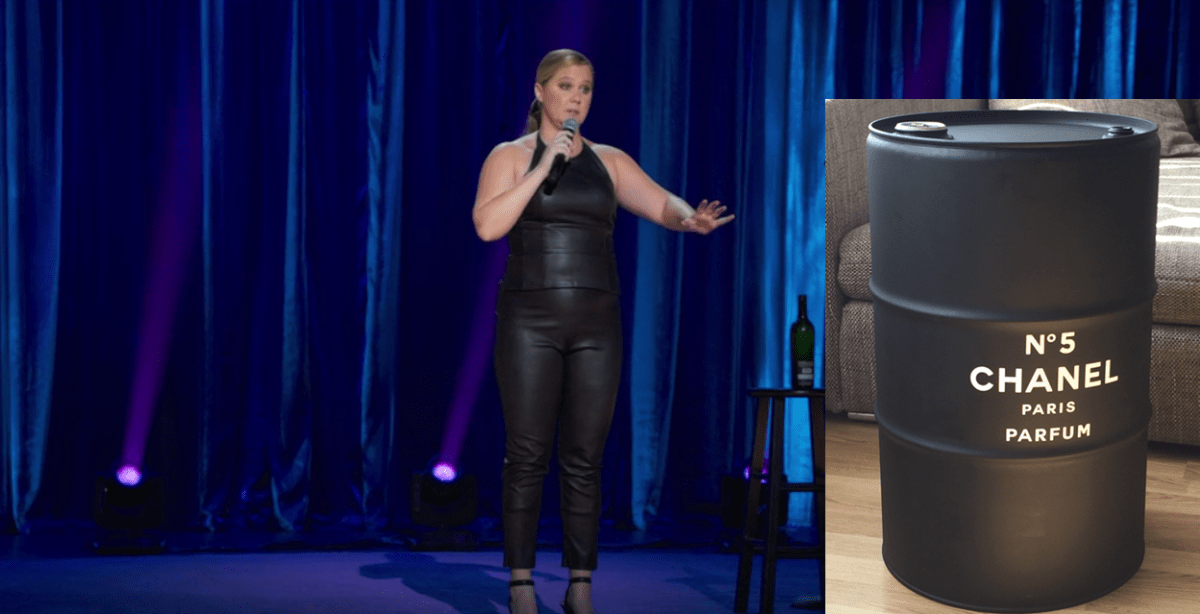 WHO WORE IT BETTER: Amy Schumer or an Oil Drum?