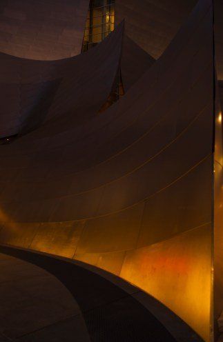 Light and shadow create effortlessly interesting images of the Walt Disney Concert Hall's angular, convex and concave surfaces.