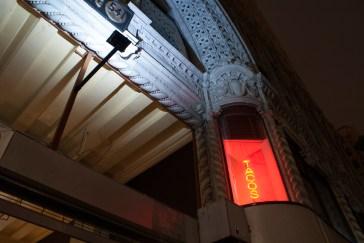Night lighting illuminates the Los Angeles Spring Arcade Building.