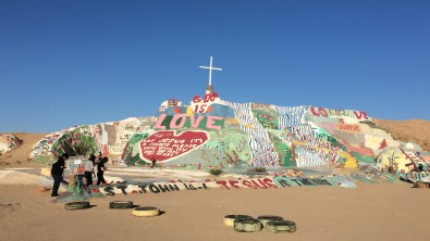 Salvation Mountain, part of the Slab City Community, boasts messages of Godly love.
