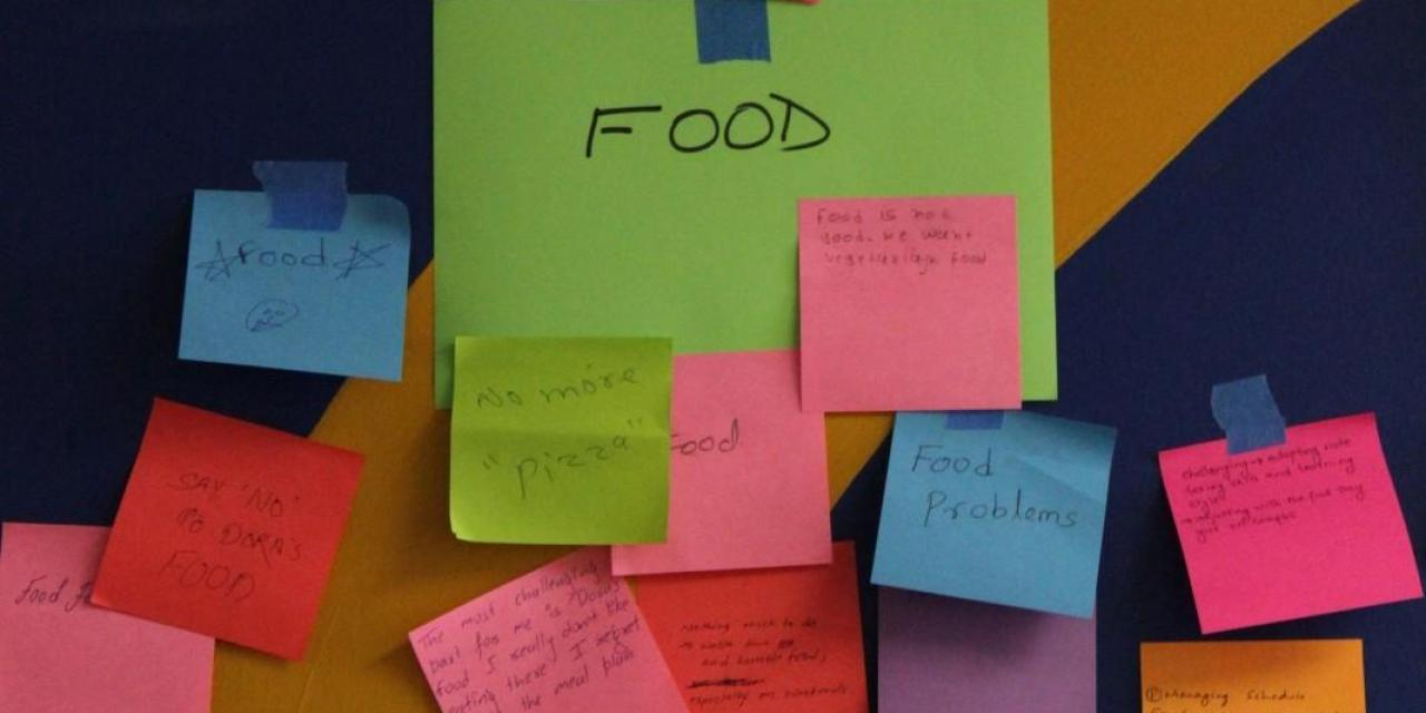 Wall of challenge highlight student issues