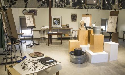 Art students create in old firehouse