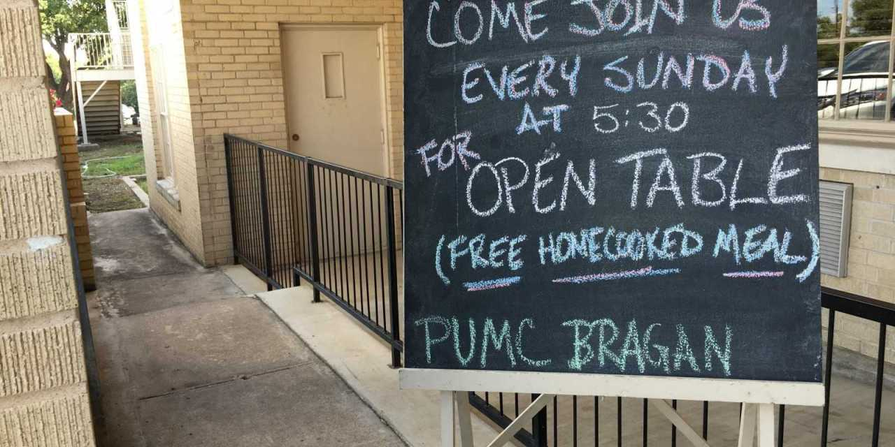 PUMC's Open Table provides free meals on Sundays