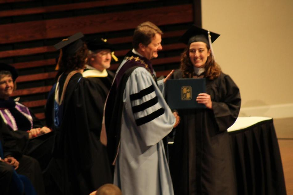 Molly Woodruff received her bachelor of science on Saturday.