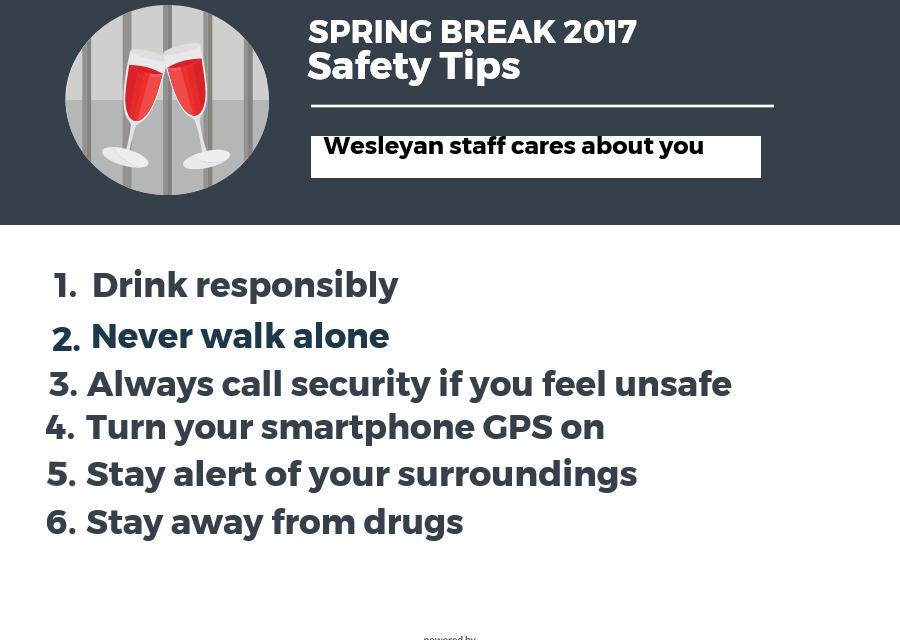 Be aware of dangers on spring break