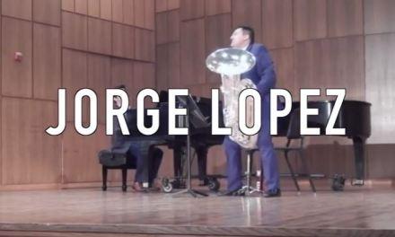 Jorge Lopez shines as a tuba player