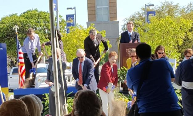 Groundbreaking ceremony starts construction on Nick and Lou Martin University Center