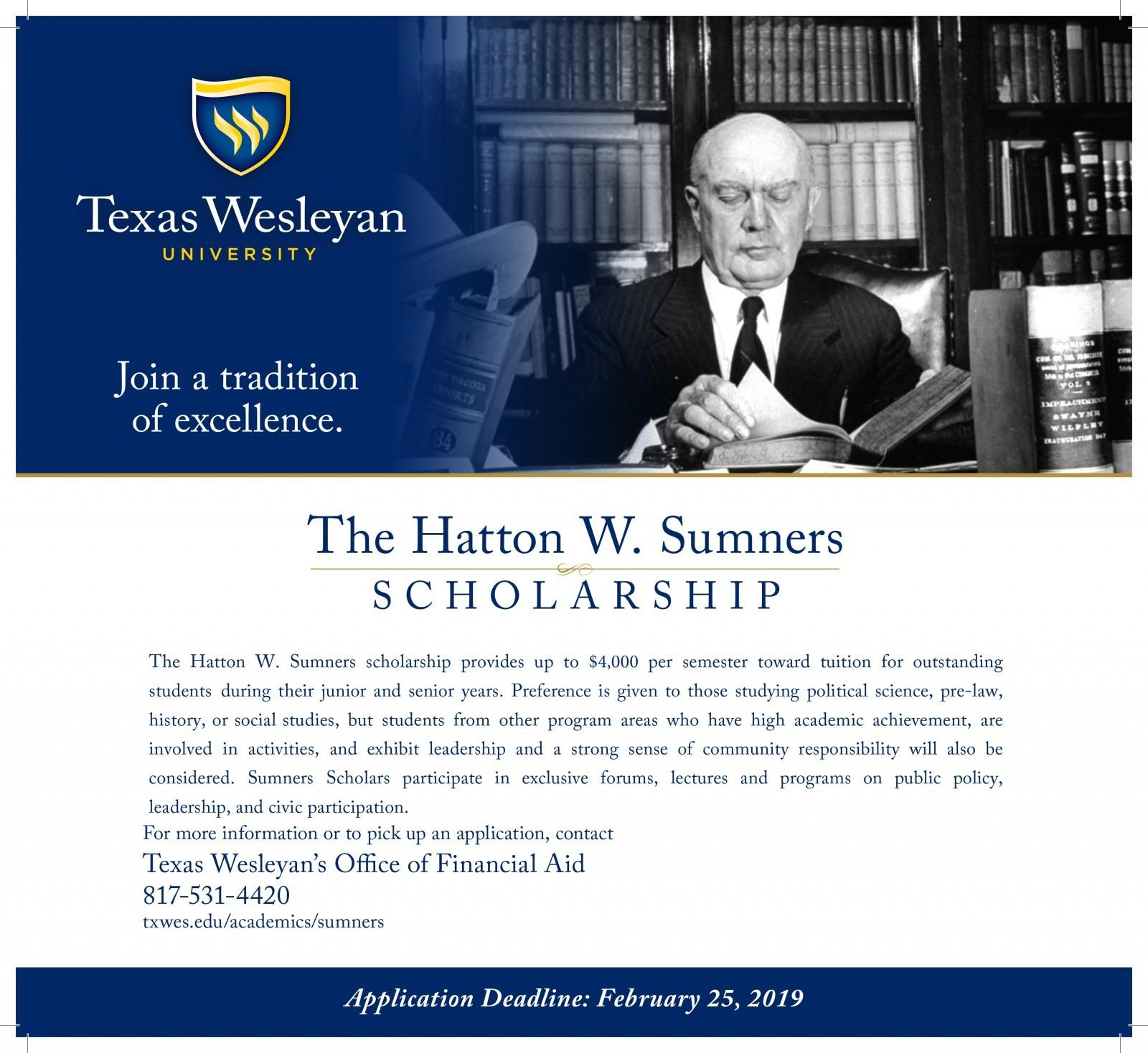 Hatton Sumners Scholarship 2019