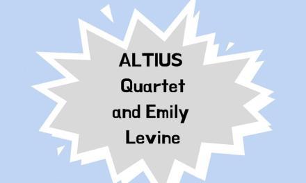 Guest recital to feature ALTIUS Quartet, principal DSO harpist
