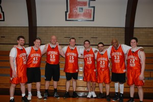 Last year's faculty team donned the orange and black throwbacks and handed the CYO All-Stars a surprising defeat. Can the six returnees and three newbies carry the team to back-to-back wins over the students?