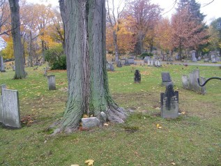 WItches' Circle with two black tombstones visible
