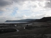 The tide was out at Robin Hood's Bay