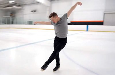 Olympic bronze medalist Adam Rippon shares his 30th birthday skate