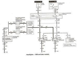 Wiring diagram for 1991 Ford e150 running lights  Ford