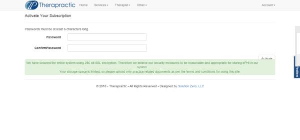 Screenshot 4 - Setting Password