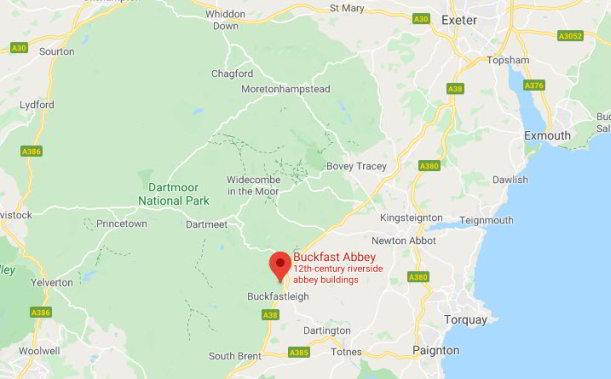 Buckfast Abbey map