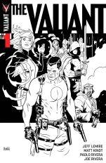 The Valiant #1 Cover F Incentive Paolo Rivera Black & White