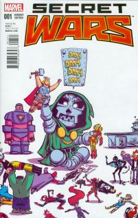 Secret Wars #1 Variant Skottie Young Baby